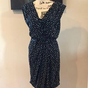 Max Studio Black and White Polkadot Dress